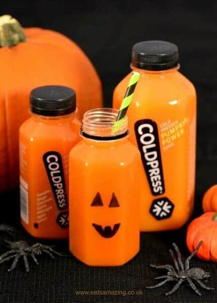 Coldpress Pumpkin Juice with a fun Halloween Twist - Eats Amazing UK