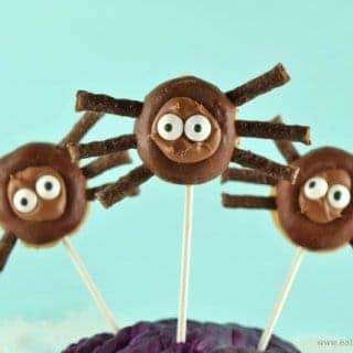 Easy Mini Donut Spider Pops Recipe