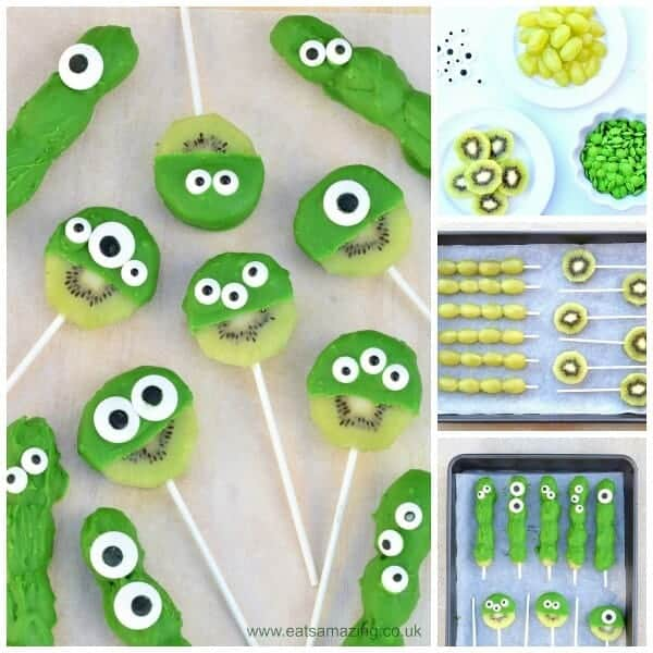 Easy green monster fruit pops - kids will love this fun treat idea from Eats Amazing UK