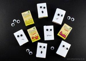 Halloween Fun Food – Ghost Raisin Boxes