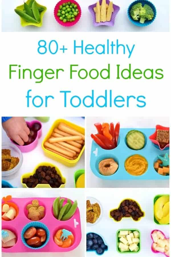 More than 80 easy and healthy finger food ideas for toddlers plus simple muffin tin meal ideas for kids - perfect for babyled weaning #kidsfood #toddlers #toddlerfood #babyledweaning #blw #healthykids #organicfood #mealideas #fingerfood