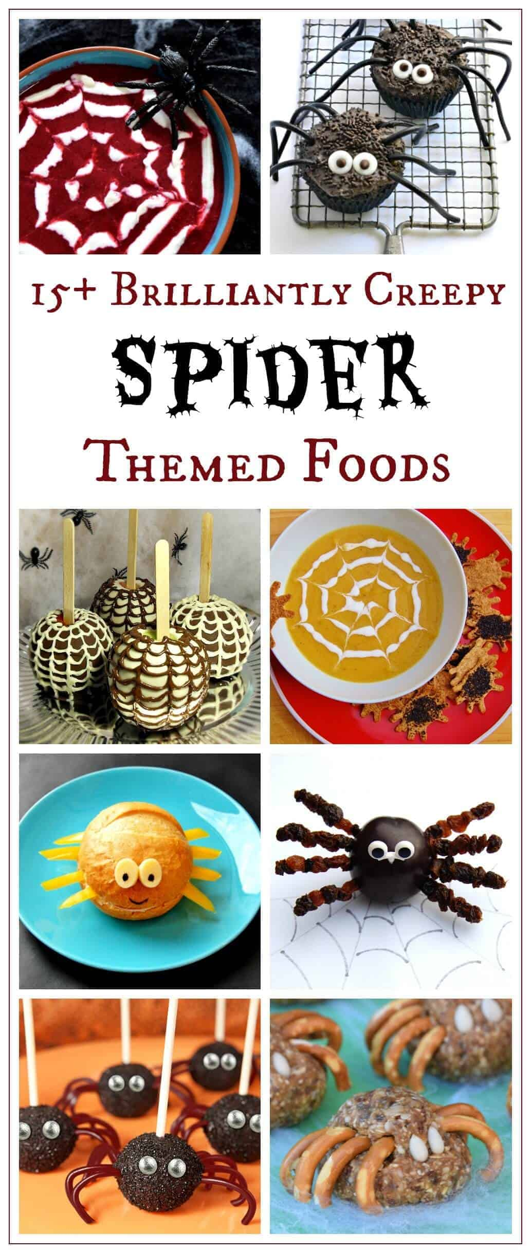 Over 15 Awesome Spider Themed Foods for Halloween - great for party food - fun food for kids from Eats Amazing UK
