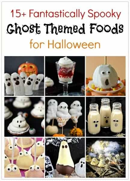 Over 15 fun ghost themed food ideaas for Halloween - perfect for Halloween desserts Halloween party food and spooky snacks for kids - Eats Amazing UK