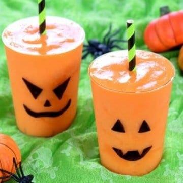 Halloween Fun – Jack-O'-Lantern Smoothies