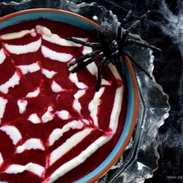 Spider Web Smoothie Bowl
