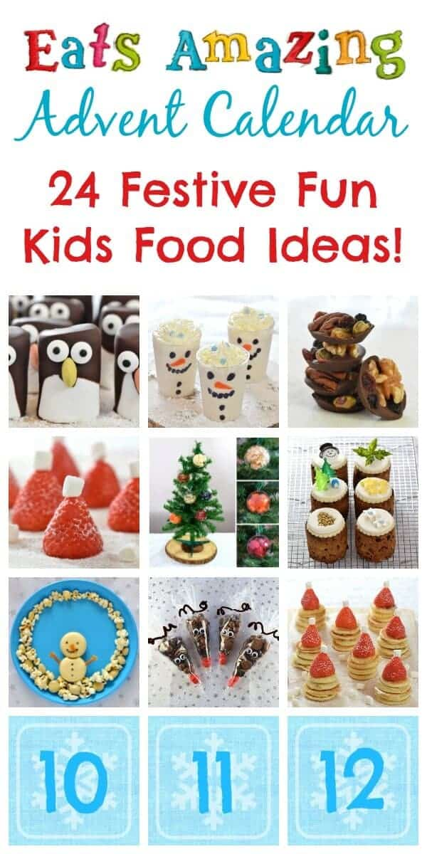 24 Fun Christmas Food ideas for kids - new ideas and festive recipes added daily throughout December - Advent Calendar of fun food from Eats Amazing