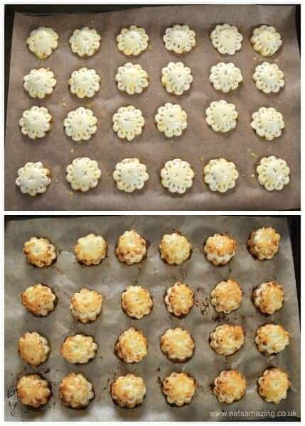 Bite sized mini mince pie puffs - easy cheats recipe for puff pastry mince pies - fun for Christmas party food and snacks - Eats Amazing UK - Step 4