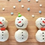 Cute Christmas food idea for kids - how to make snowman sandwich balls - fun food tutorial from Eats Amazing UK