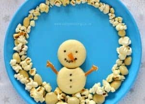 Snowman Food Art Snack