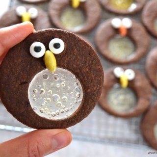 Chocolate Mint Penguin Stained Glass Cookies Recipe