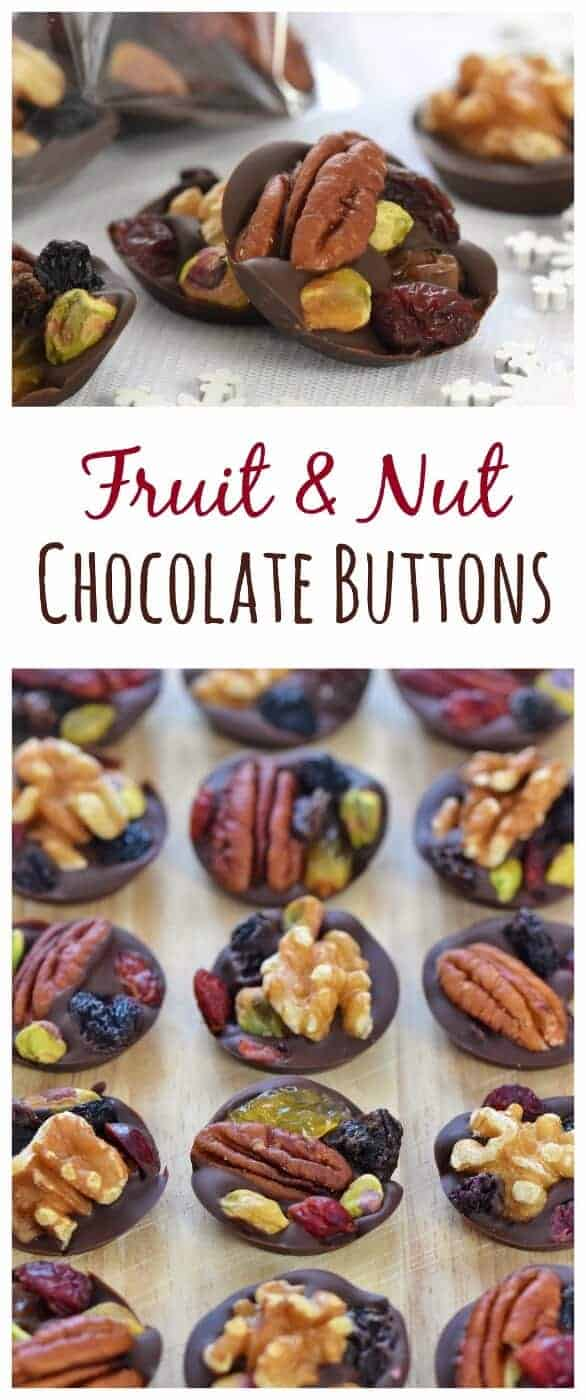 Easy Fruit Nut Chocolate Buttons Recipe Eats Amazing