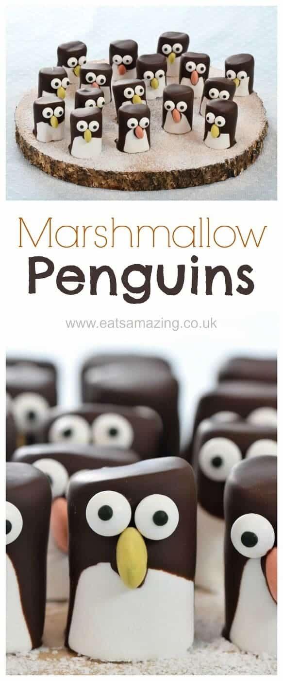 Advent Calendar Ideas Uk : Marshmallow penguins fun food tutorial eats amazing