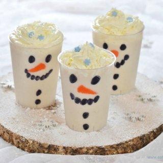 Easy Snowman Smoothies Recipe