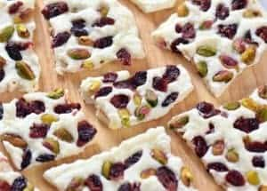 Cranberry Pistachio Frozen Yogurt Bark Recipe