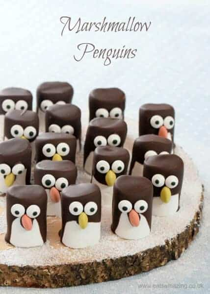 marshmallow penguins fun food tutorial