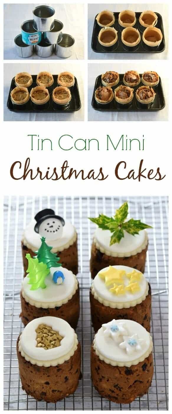 How to make christmas cake - How To Make Mini Christmas Cakes In Tin Cans I Used Mini Baked Bean Tins