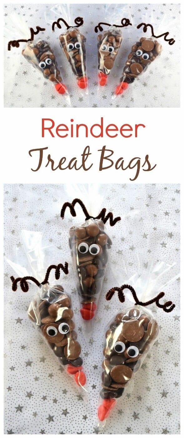 Fun Christmas Food: Reindeer Treat Bags
