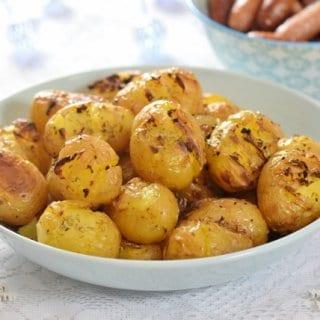Rosemary & Garlic Crushed Potatoes Recipe