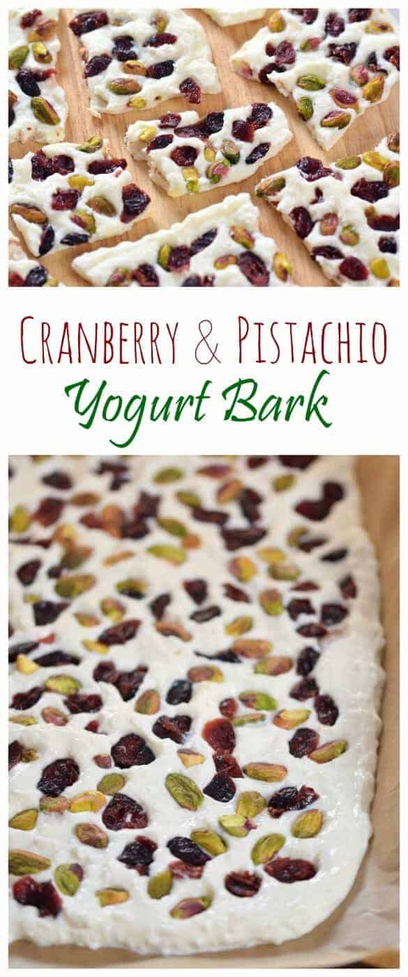 Simple and healthy Cranberry Pistachio Yogurt Bark recipe - easy healthy snack the whole family will love from Eats Amazing UK