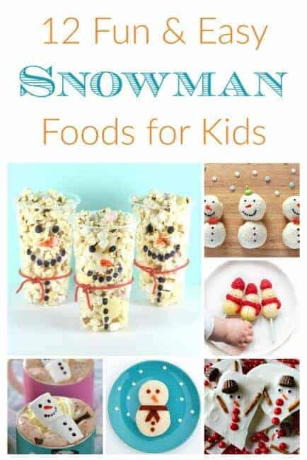 12 Snowman themed fun food ideas for kids - these cute ideas are perfect for party food lunch boxes snacks and treats - Eats Amazing UK