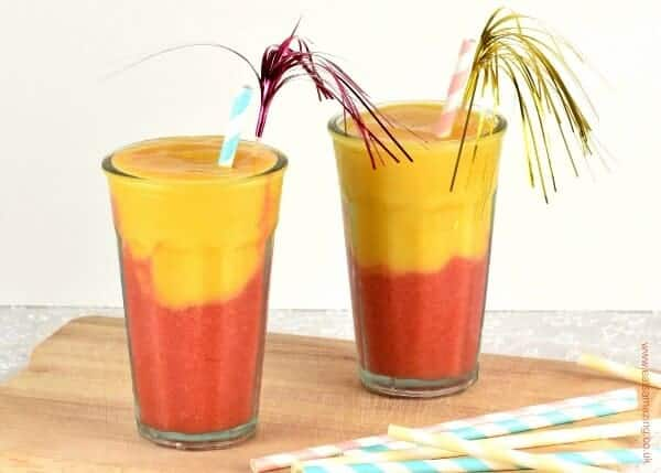 Easy layered fruit smoothie recipe with new Dole frozen fruit - a lovely treat all the year around - Eats Amazing UK