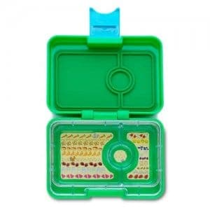 Ami Green Yumbox Mini Snack Box - Leakproof Snack Box for Waste Free Lunches from the Eats Amazing UK Bento Shop