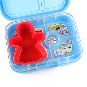 Christmas Silicone Mould in the Yumbox bento box from the Eats Amazing UK Shop - gingerbread lady