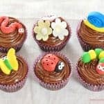 Cute and Easy Garden Bug Themed Chocolate Cupcakes Recipe - great for kids parties - Eats Amazing UK
