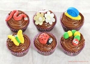 Garden Bug Themed Chocolate Cupcakes Recipe