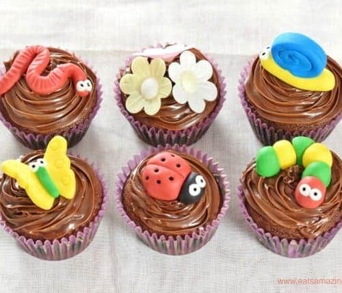 Garden Bug Themed Chocolate Cupcakes Recipe Eats Amazing