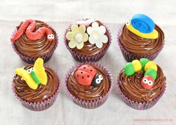 Cupcakes Recipe Uk Easy: Garden Bug Themed Chocolate Cupcakes Recipe