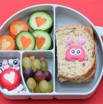 Easy Valentines Healthy Lunch Box Inspiration - Cute Bento Box ideas for kids from Eats Amazing UK