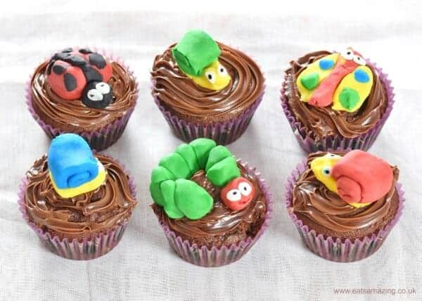 Garden bug themed cupcakes made by kids - Eats Amazing UK