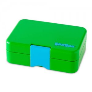 Green Yumbox Mini Snack Box - Leakproof Snack Box for Waste Free Lunches from the Eats Amazing UK Bento Shop