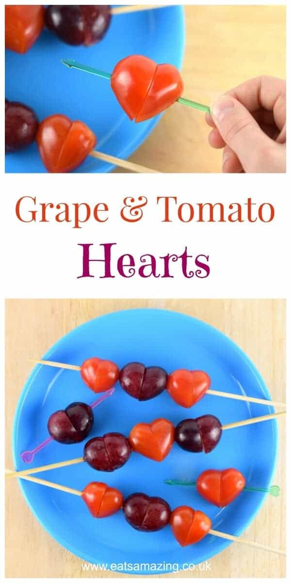 fun food tutorial easy grape tomato hearts eats amazing
