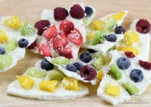 Rainbow Fruity Frozen Yogurt Bark Recipe