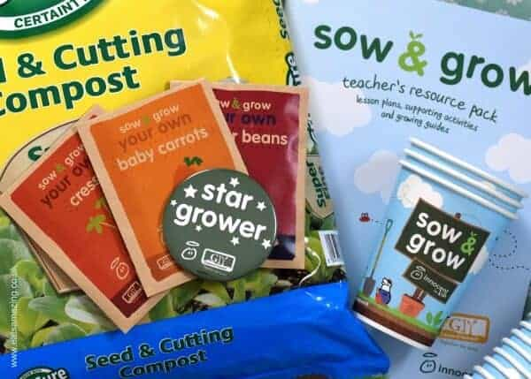 Sow and Grown packs for schools - get kids growing their own healthy vegetables