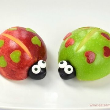 Valentines love bugs tutorial with video - fun food for kids from Eats Amazing UK