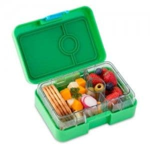 Yumbox Mini Snack Box - Leakproof Snack Box for Waste Free Lunches from the Eats Amazing UK Bento Shop - Ami Green
