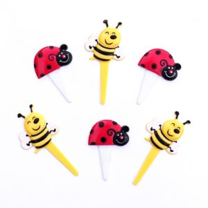 Bee and ladybird cupcake picks from the Eats Amazing UK Shop