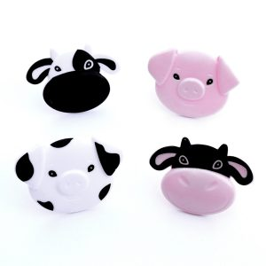 Cow and pig farm themed cupcake rings from the Eats Amazing UK Shop