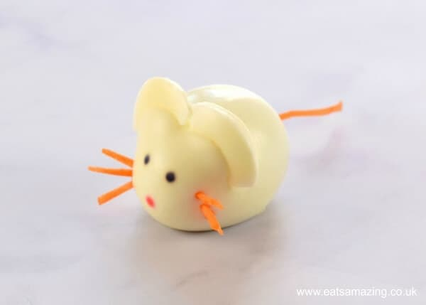 Easy Boiled Egg Animals Fun Food Tutorial from Eats Amazing UK - Boiled Egg Mouse