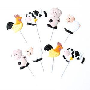 Farm animal themed cupcake picks from the Eats Amazing UK Shop