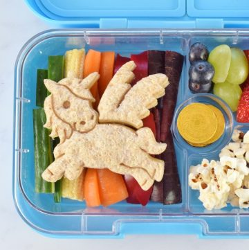How to make a cute and easy Rainbow unicorn lunch for kids
