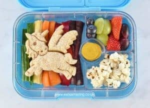 How to make an easy rainbow unicorn bento lunch - with full instructions and video tutorial - Eats Amazing UK