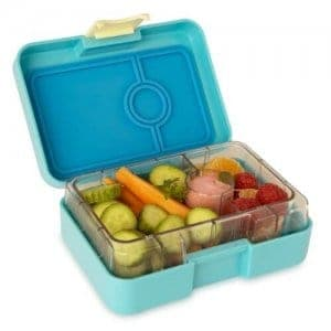 Yumbox Mini Snack Box - Leakproof Snack Box for Waste Free Lunches from the Eats Amazing UK Bento Shop - Cannes Blue