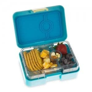 Yumbox Mini Snack Box - Leakproof Snack Box for Waste Free Lunches from the Eats Amazing UK Bento Shop - Cannes Blue Design