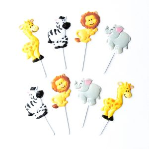 Zoo animal themed cupcake picks from the Eats Amazing UK Shop