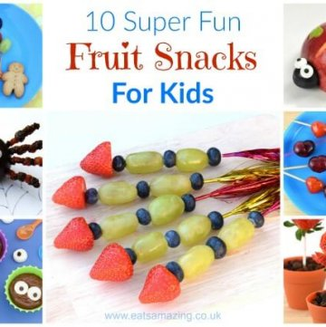 10 cute and easy fun fruit snacks for kids - get your kids eating healthy fruit with these fun food recipes and tutorials - Eats Amazing UK
