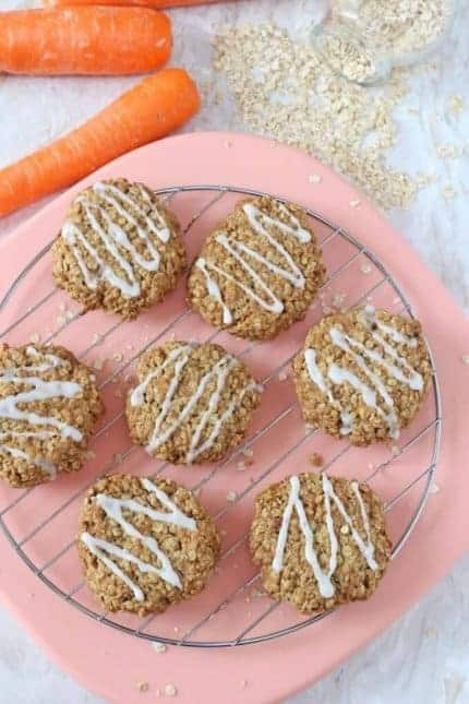 Carrot Cake Cookies from My Fussy Eater one of 25 healthy toddler recipes the whole family can enjoy